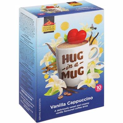 HUG-IN-A-MUG VANILLA CAPPUCCINO STICKS 10'S