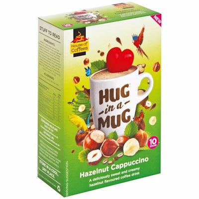 HUG-IN-A-MUG HAZELNUT CAPPUCCINO 10'S
