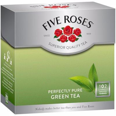 FIVE ROSES GREEN TAGLESS TEA BAGS 102'S
