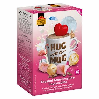 HUG-IN-A-MUG MARSHMALLOW CAPPUCCINO STICKS 10'S