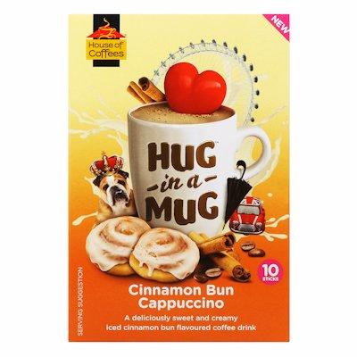 HUG-IN-A-MUG CINNAMON BUN CAPPUCCINO STICKS 10'S