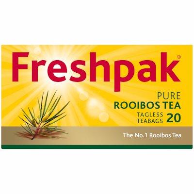 FRESHPAK ROOIBOS TAGLESS TEA BAGS 20'S