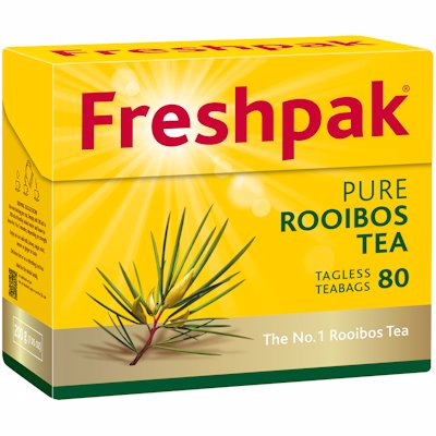 FRESHPAK ROOIBOS TAGLESS TEA BAGS 80'S