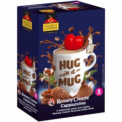 HUG-IN-A-MUG ROMANY CREAM CAPPUCCINO STICKS 8'S