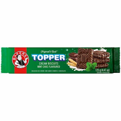 BAKERS TOPPER CHOC MINT 125GR