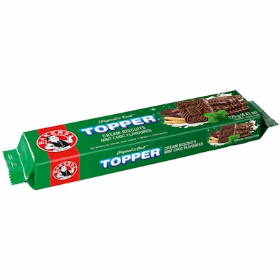 BAKERS TOPPER CHOC MINT FLAVOURED BISCUIT 125G