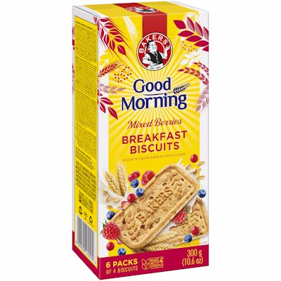BAKERS GOOD MORNING BISCUIT MIXED BERRIES 300G