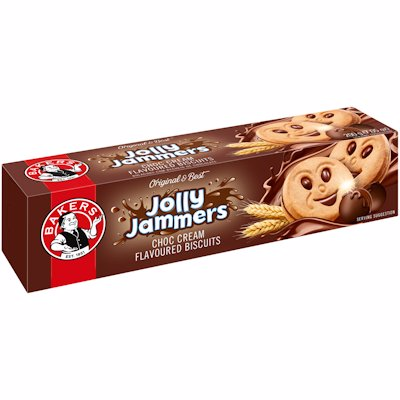 BAKERS JOLLY JAMMERS CHOCOLATE FLAVOURED 200G