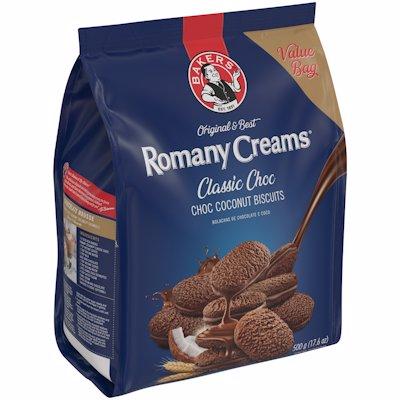 BAKERS ROMANY CREAMS CRUNCHY CHOC COCONUT 500G