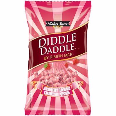 DIDDLE DADDLE POPCORN STRAWBERRY 150GR