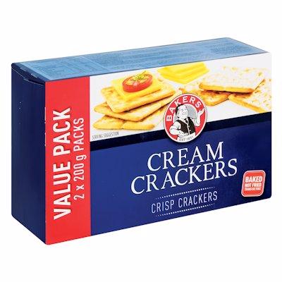 BAKERS CREAM CRACKERS 400G