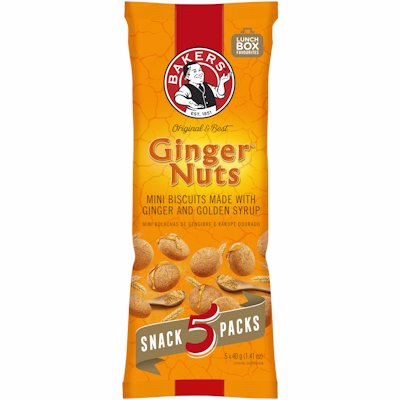 BAKERS GINGER NUTS MINI 200GR