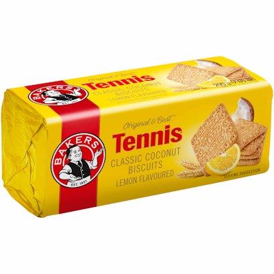 BAKERS TENNIS BISCUITS LEMON FLAVOURED 200G
