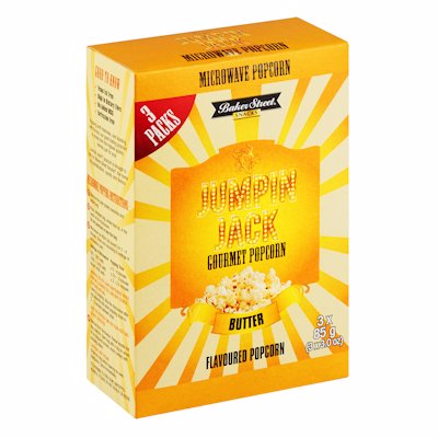 JUMPING JACK MICROWAVE POPCORN BUTTER 255G