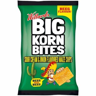 WILLARDS BIG KORN BITES SOUR CREAM & ONION 120G