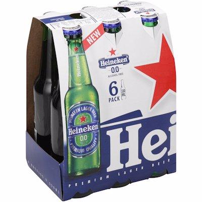HEINEKEN BEER LAGER NON-ALCOHOLIC 330ML