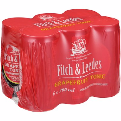 FITCH&LEEDES TONIC GF 6-PACK 200ML