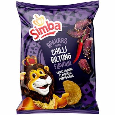 SIMBA CHIPS CHILLI BILTON 120GR