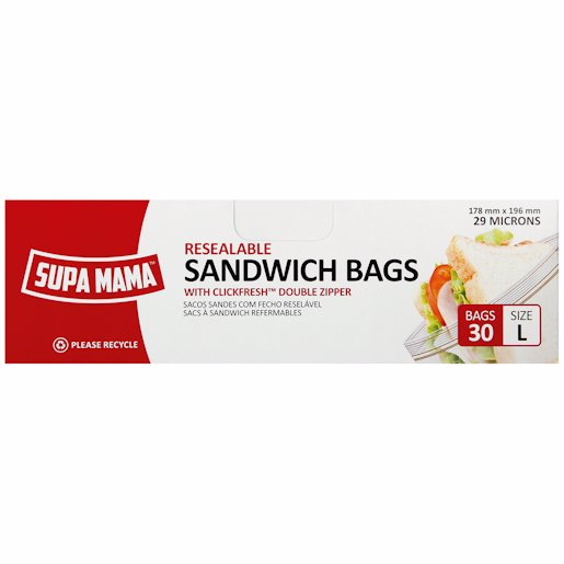 SUPAMAMA S/WICH BAG LARGE 20'S