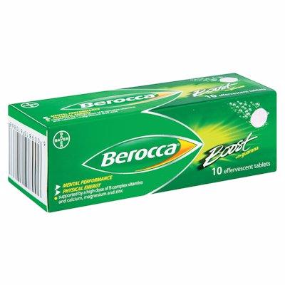 BEROCCA BOOST EFFERVESCENT TABLETS 10'S