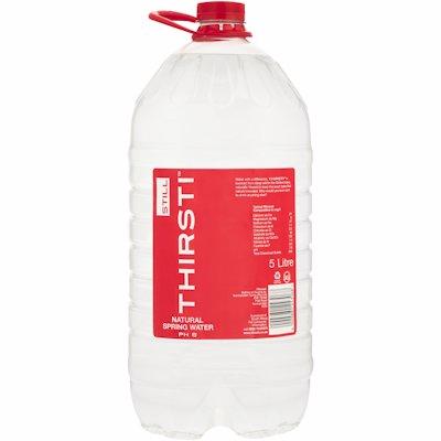 THIRSTI NATURAL SPRING WATER STILL 5LT