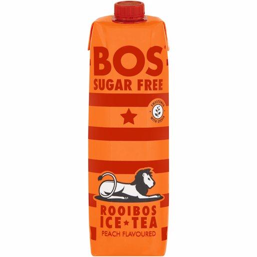 BOS ICE TEA PEACH S/FREE 1LT