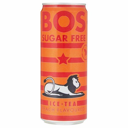 BOS ICE TEA PEACH S/FREE 330ML