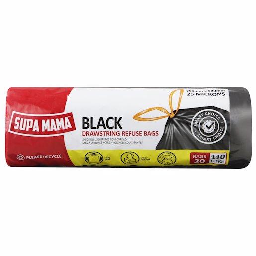 SUPA MAMA REF BAG BLACK 20'S