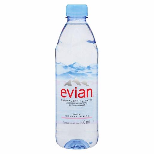 EVIAN SPRING WATER PLASTIC 500ML