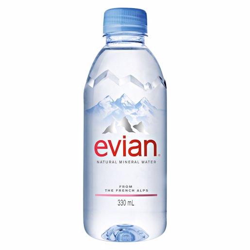 EVIAN SPRING WATER PLASTIC 330ML