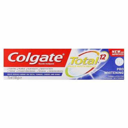 COLGATE T/P TOT PRO WHITE 75ML