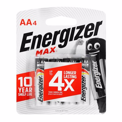 ENERGIZER MAX AA BATTERIES 4'S