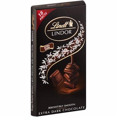 LINDT LINDOR EXTRA DARK CHOCOLATE SINGLES 100G