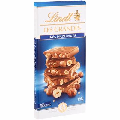 LINDT 34% HAZELNUTS MILK CHOCOLATE SLAB 150G