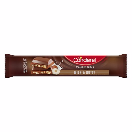 CANDEREL BAR MILK & NUTS 27GR