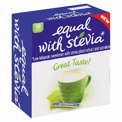 EQUAL SWEETENER STEVIA STICKS 50'S