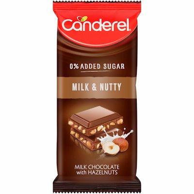 CANDEREL MILK & NUTTY CHOCOLATE SLAB 100G