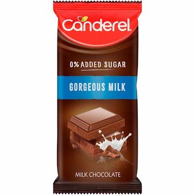 CANDEREL GORGEOUS MILK CHOCOLATE SLAB 100G