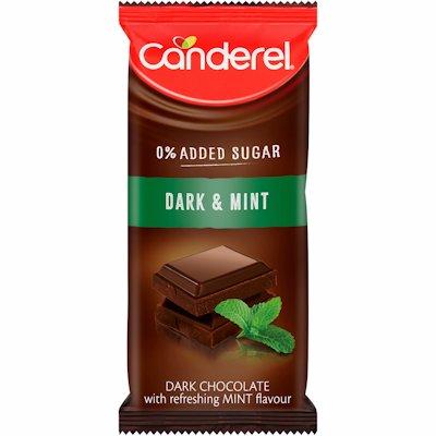 CANDEREL DARK & MINT CHOCOLATE SLAB 100G