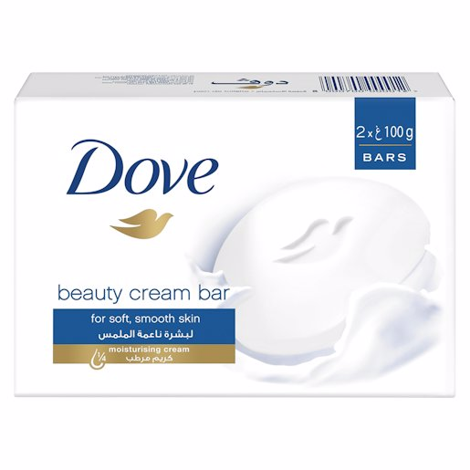 DOVE BEAUTY BAR TWIN PACK WHT 2*100