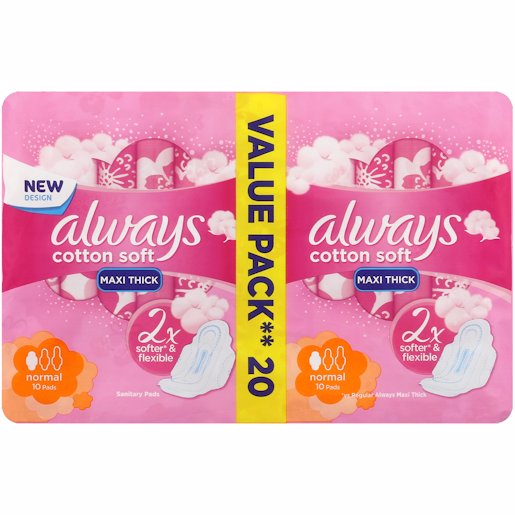 ALWAYS MAXI SOFT NORMAL 20'S