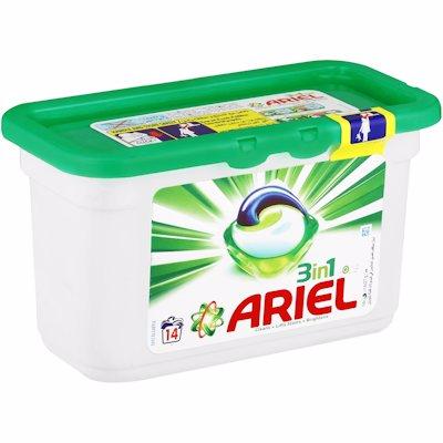 ARIEL 3 IN 1 AUTO CAPSULES 14'S