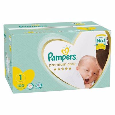PAMPERS PREM JP NEW BORN 100'S