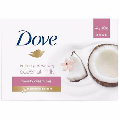 DOVE SOAP COCONUT MILK 4'S