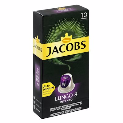 JACOBS LUNGO INTENSO 8 CAPSULES 10'S