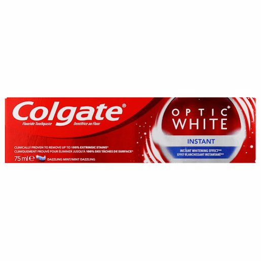 COLGATE T/PASTE OPTIC WHT INS 75ML