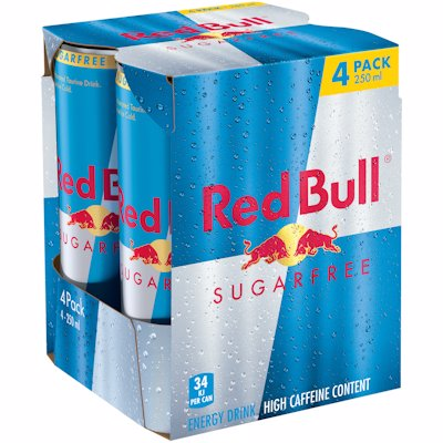 RED BULL ENERGY DRNK SUGA FREE 250ML