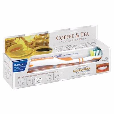 WHITE GLOW COFFEE & TEA DRINKERS FORMULA 150G